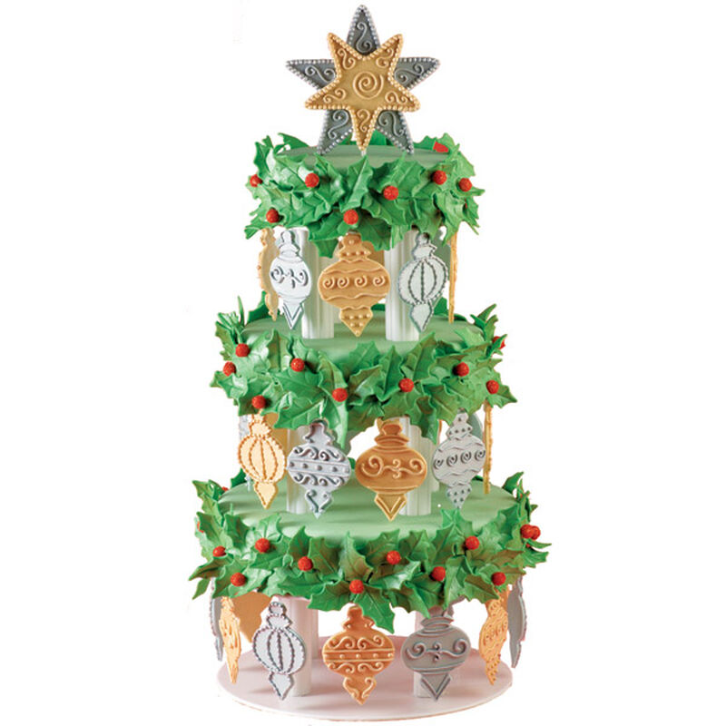 Decked-Out Tree Tower Cake image number 0