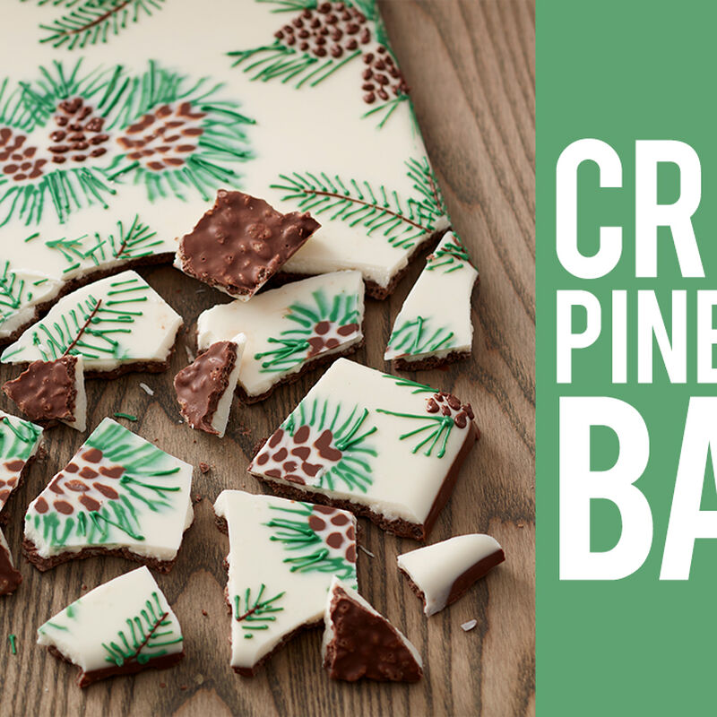 How to Make Crispy Pine Cone Candy Bark