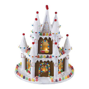 Illuminated Gingerbread Castle