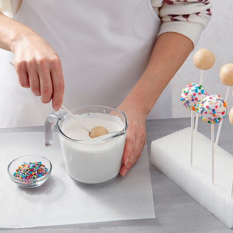 Step 5: Dip Cake Ball Into Melted Candy Melts