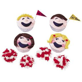 Cheerful Cheerleaders Cupcakes