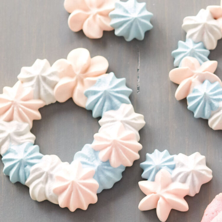 Baby Blue and Pink Meringue Wreaths