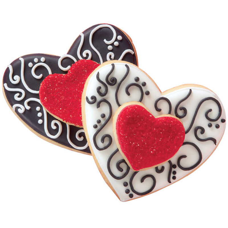 Inscribed Hearts Cookies image number 0