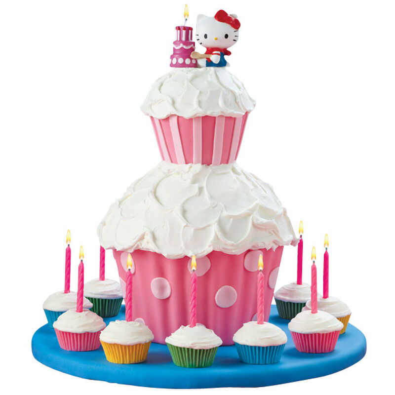 Hello Kitty Candle Cake & Cupcake image number 0
