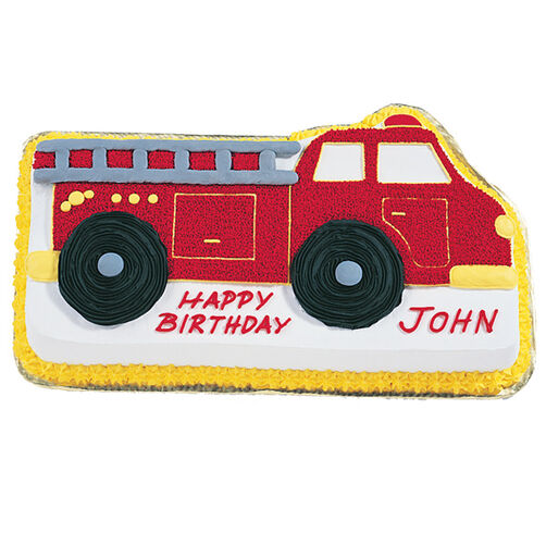 How To Make A Fire Truck Cake Step By Step