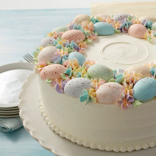 Speckled Egg Statement Cake