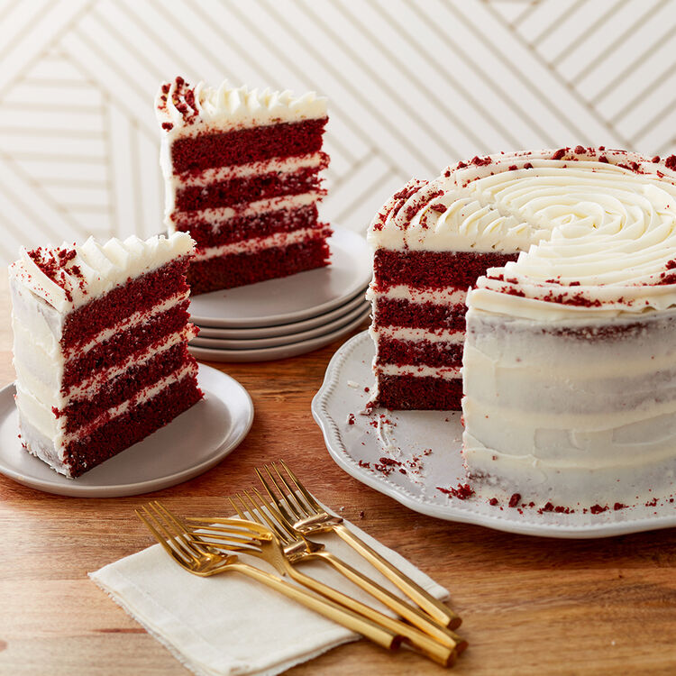 Red Velvet Cocoa Cake with cream cheese frosting