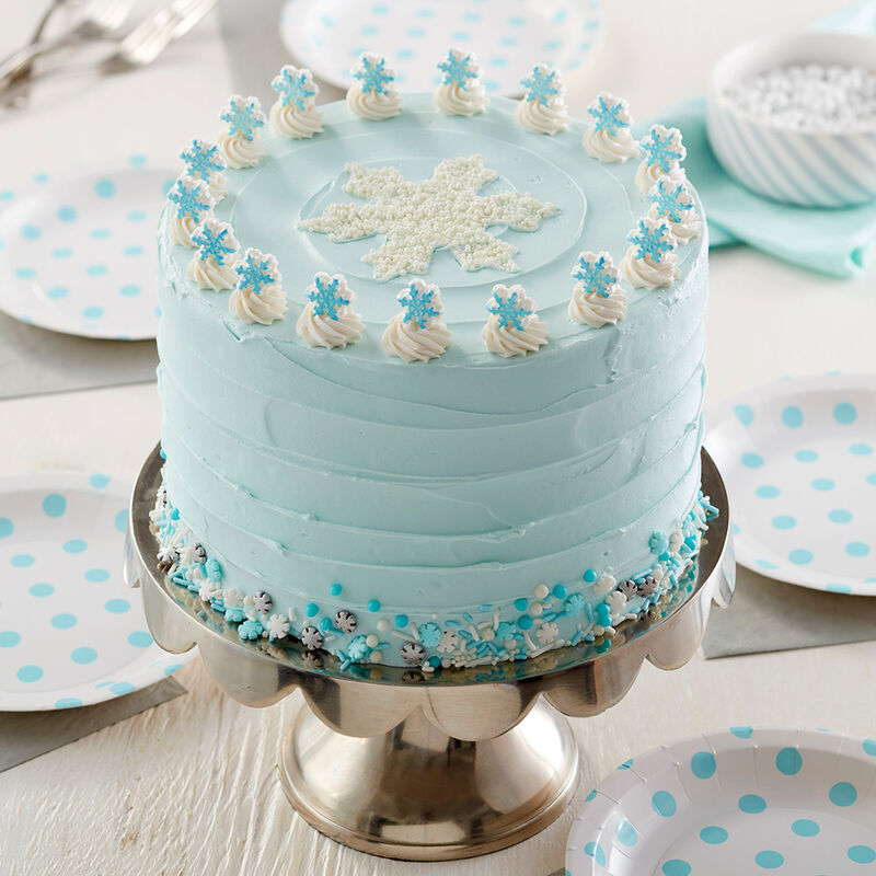 Winter Wonderland Snowflake Cake image number 0