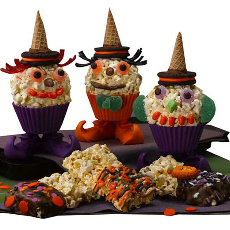 Spooky Popcorn Witches