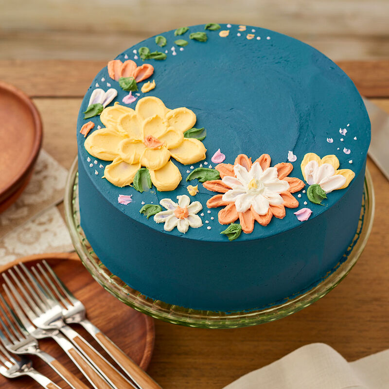 Autumn Floral Cake image number 0
