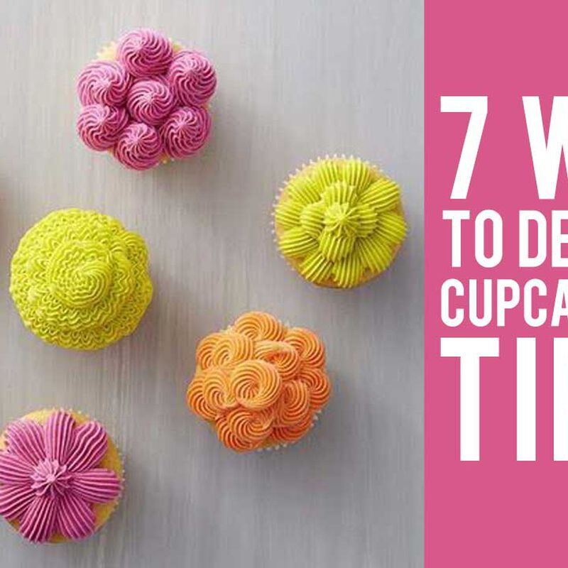 How to Decorate Cupcakes with Tip 32 - 7 Ways!