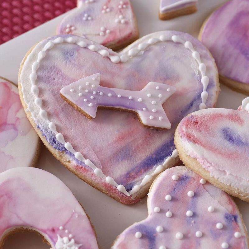 Hearts Abound Watercolor Cookies image number 0
