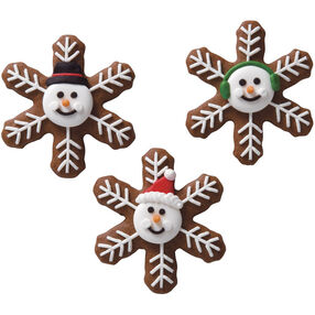 Winter Friends Snowflake Cookies