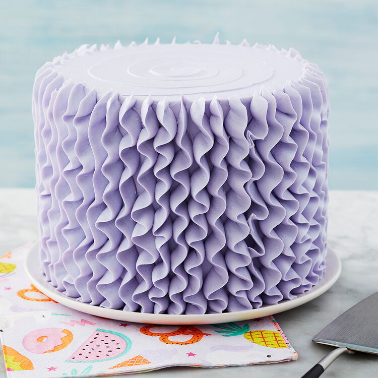 3 Ways to Use Tip 104 - Purple Cake with Ruffles