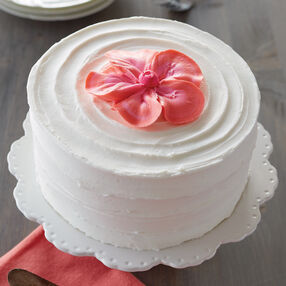 Coral and Pink Flower Cake