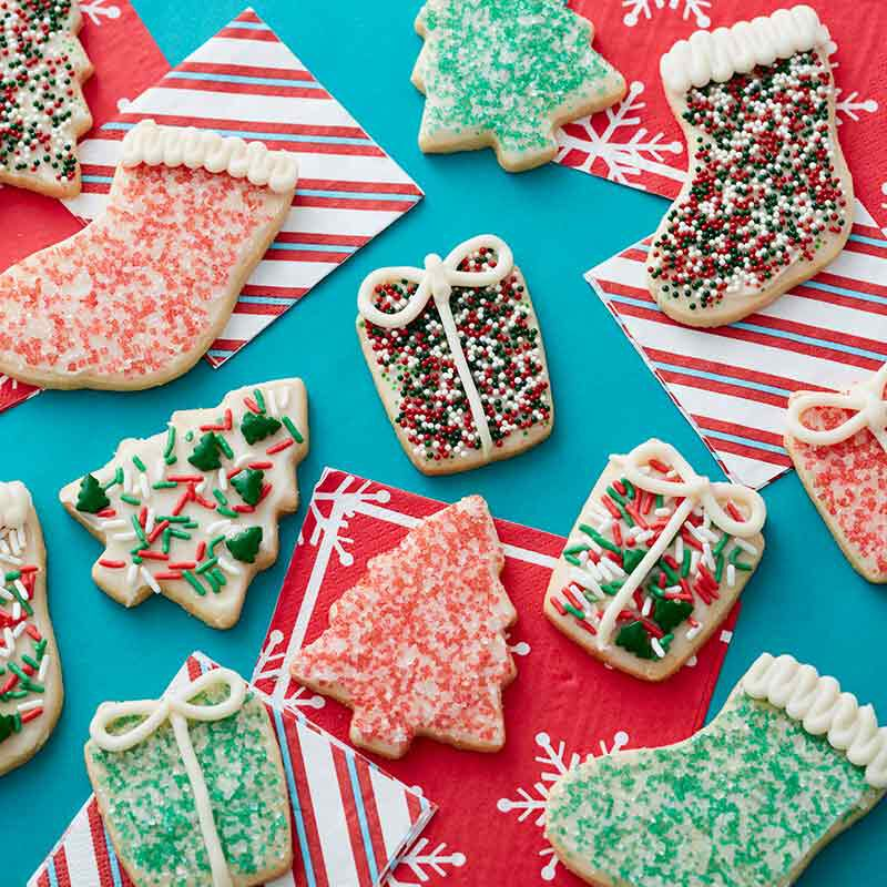 simple christmas cut out cookies image number 0