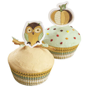 Simple and Easy Autumn Cupcakes