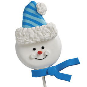 Snuggled Up Snowman Cookie Pop