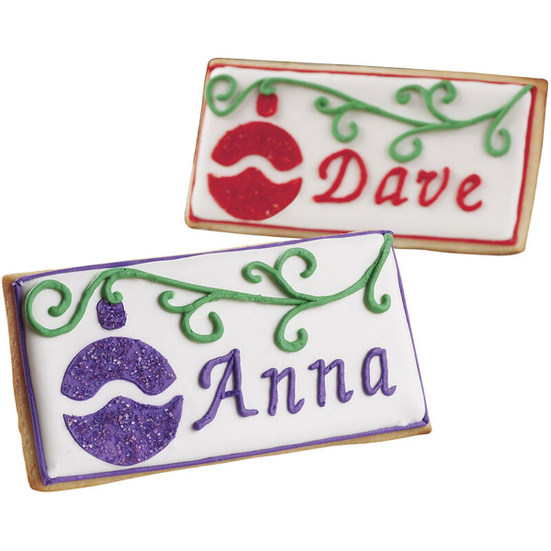 Christmas Place Card Cookies image number 0