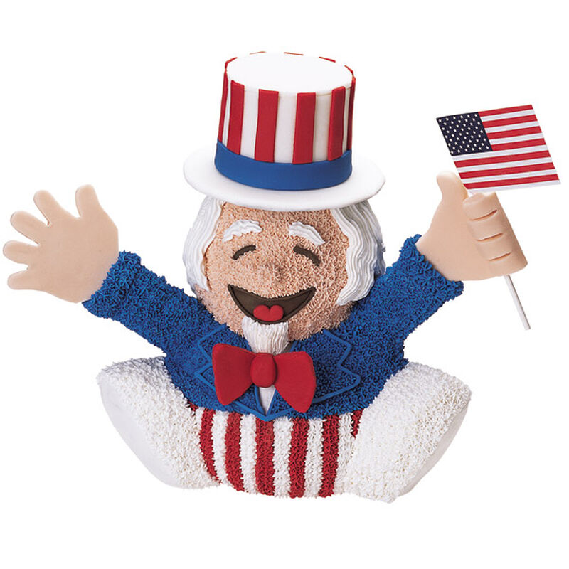 Uncle Sam Leads The Cheers Cake image number 0