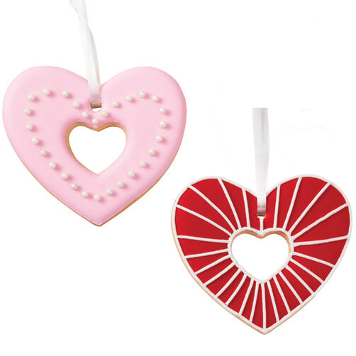Open Heart Ornament Cookies