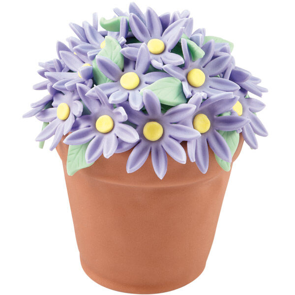 Images. Pretty Purple Daisies Flower Pot Cake  sc 1 st  Wilton.com : flower pot cakes - startupinsights.org