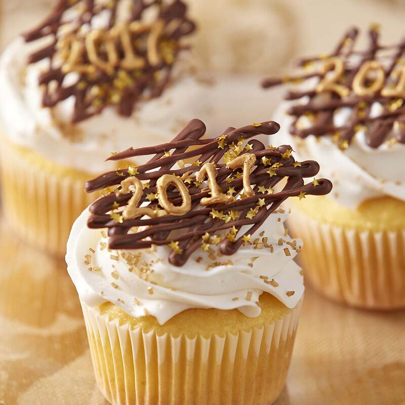 Happy New Year 2017 Cupcakes image number 0