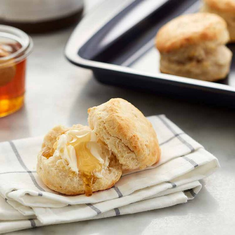 homemade biscuits on a plate