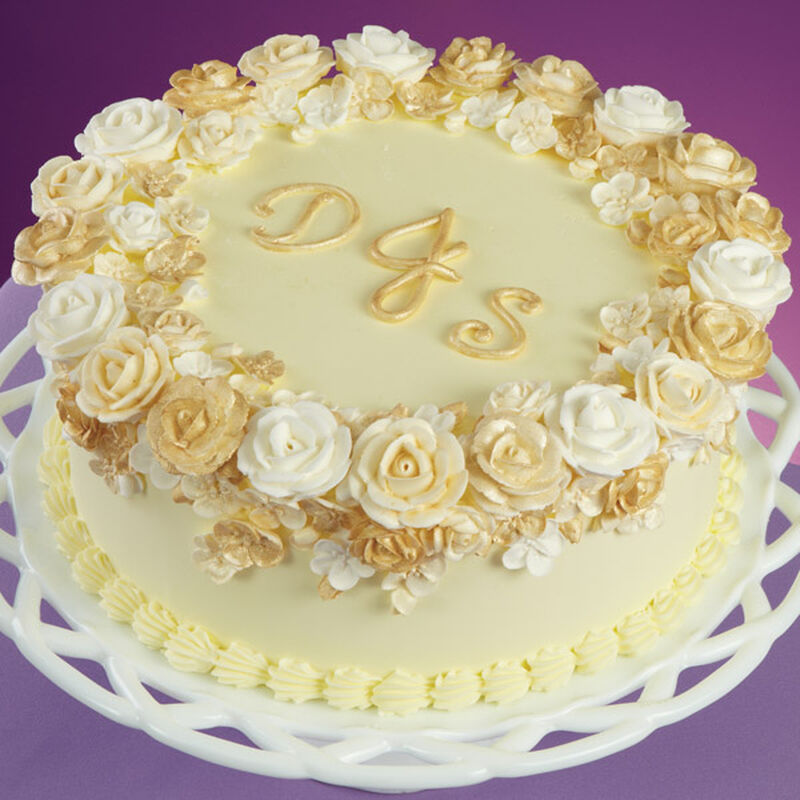 Glorious Golden Rose Cake image number 0