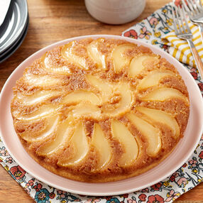 Upside-Down Pear Cake Recipe