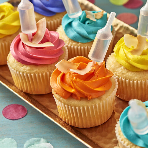 Ideas For Decorating Cupcakes: Tropical Coconut Cupcakes