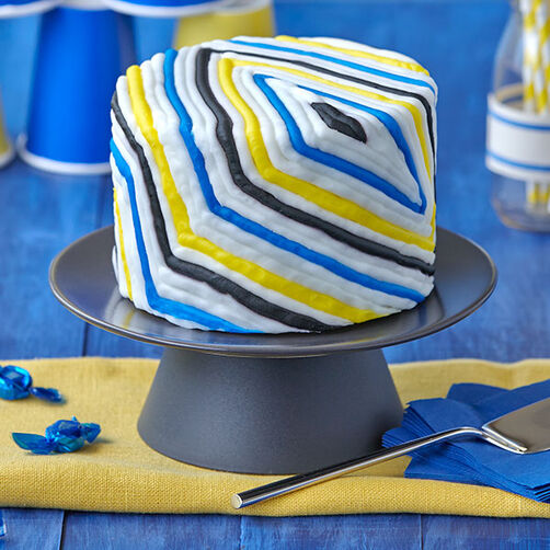 Easy Party Cake With Colorful Diamonds