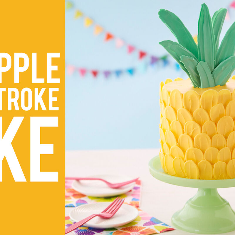 Pineapple Brushstroke Cake