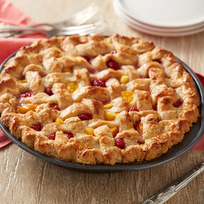 Raspberry Peach Pie Recipe