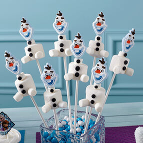 Make Olaf Marshmallow Treats