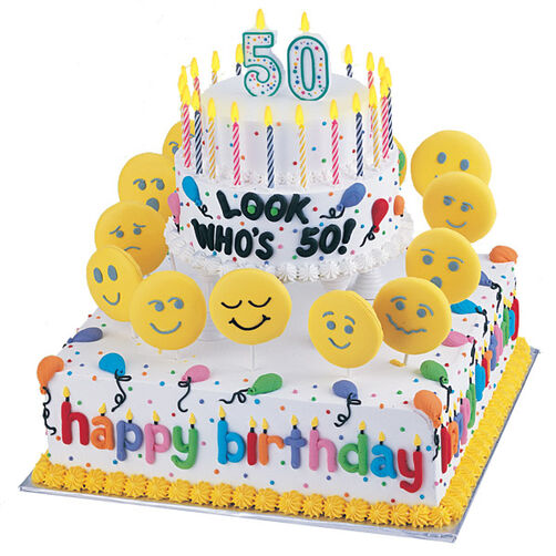 Heads Up - You're 50! Cake