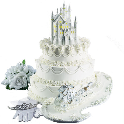 The Fairy Tale Begins Castle Cake
