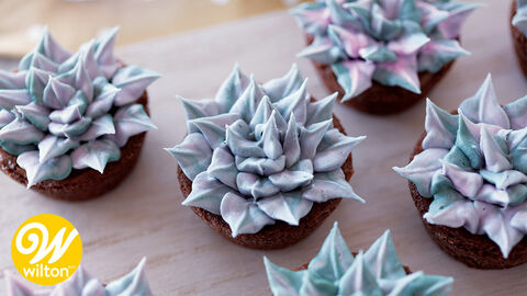 How to Make Buttercream Leafy Succulents