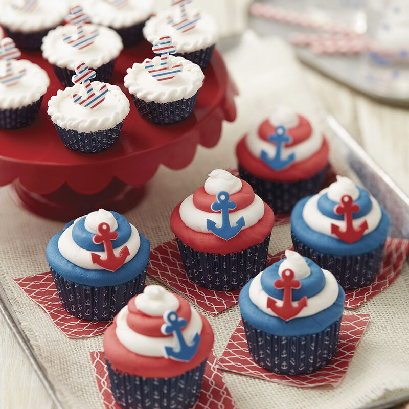 Wilton Nautical Nibbles Mini Beach Cupcakes image number 1