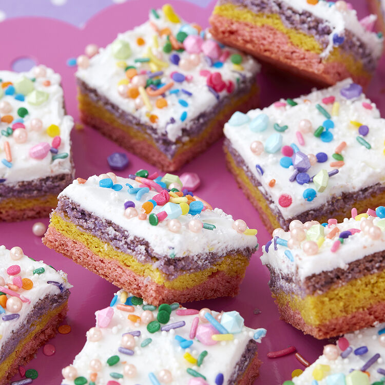 Sparkly Unicorn Cookie Bars