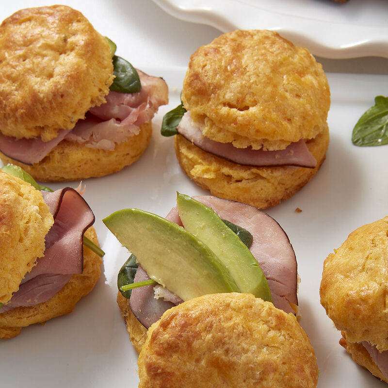 Mini Ham and Avocado Biscuit Sliders image number 0