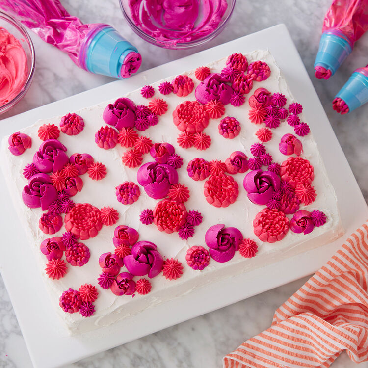Easy Blooms Floral Sheet Cake