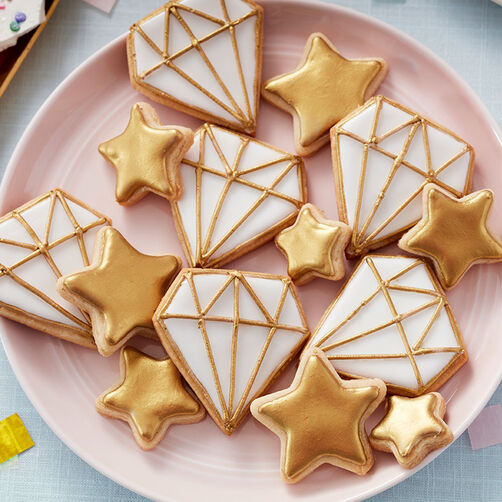 Sparkling Stars and Diamond Cookies