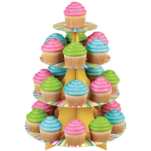 Colorful Cupcakes Display Wilton