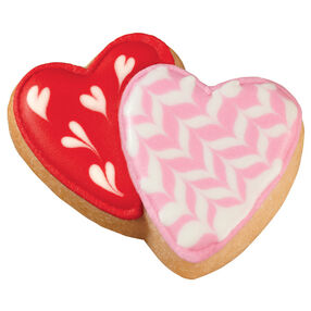 Interlocking Hearts Pan Cookies