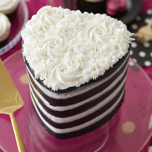 easy layers  heart cake