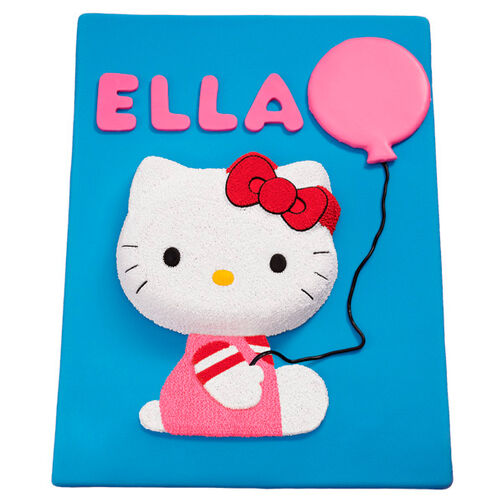Hello Kitty Balloon Birthday Cake