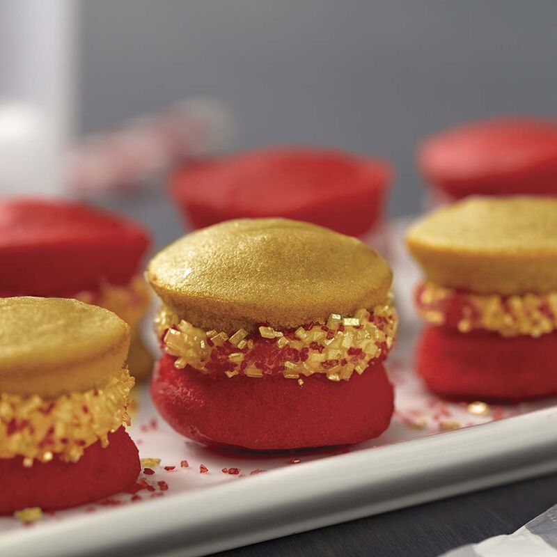 Wilton Red and Silver Mini Whoopie Pies image number 1