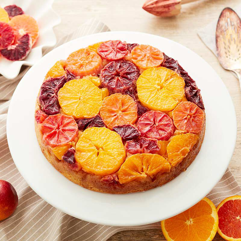 Beautiful Blood Orange Upside Down Cake image number 0