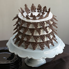 Candy Lace Points Cake